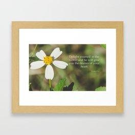 Psalm 37 4 Framed Art Print