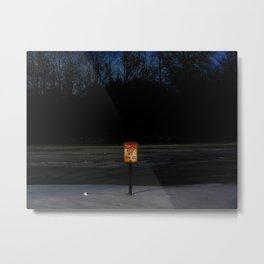 The Ice Be Thin Metal Print