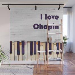 I love Chopin, piano classical music modern poster Wall Mural