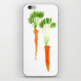 Carrots Watercolor iPhone Skin