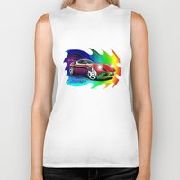 ferrari Biker Tanks featuring Ferrari by JT Digital Art