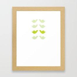 green love birds Framed Art Print
