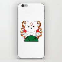 okami iPhone & iPod Skins featuring Baby Okami by Murphis the Scurpix