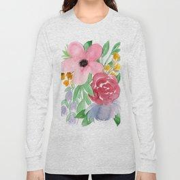 Floral Watercolor Bouquet no. 2 Long Sleeve T-shirt