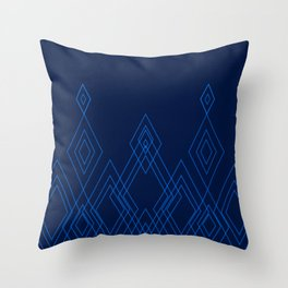 Modern Blue Tribal Throw Pillow