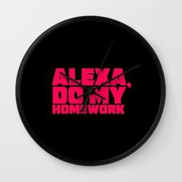 ALEXA, do my homework! Wall Clock