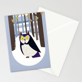 Owl in the Forest Stationery Cards