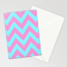PINK & TEAL CHEVRON  Stationery Cards