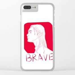 BRAVE Clear iPhone Case