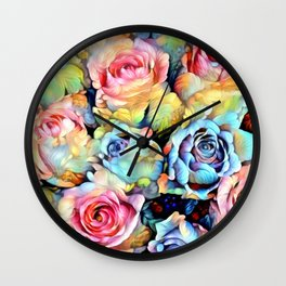 For Love of Roses Wall Clock