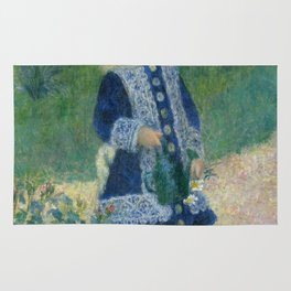 Girl with a Watering Can Rug