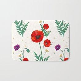 poppies blossom Bath Mat