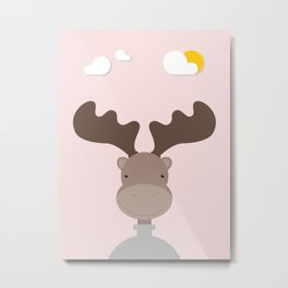 Elk • Colorful Illustration Metal Print