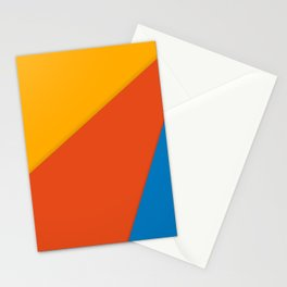 Orange, Red and Blue Triangle Pattern Cutest Stationery Cards