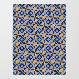 Blue squares Poster