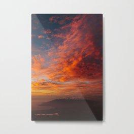 Haleakala's Colorful Sunset Metal Print