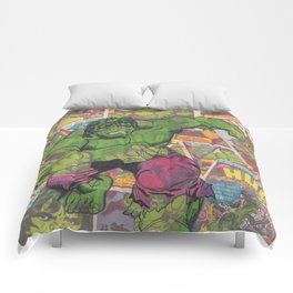 The Hulk Vintage Comic Art Comforters