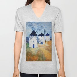 Sound of windmills going aroand Unisex V-Neck