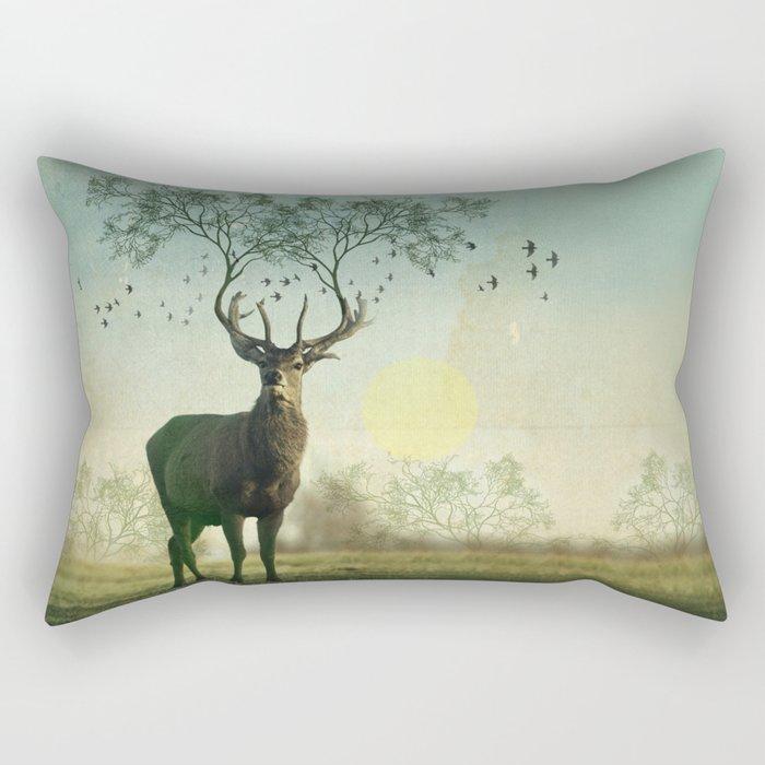 Evergreen Stage Horn Rectangular Pillow