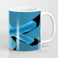 boob Mugs featuring Electric Blue - sexy by Brian Raggatt