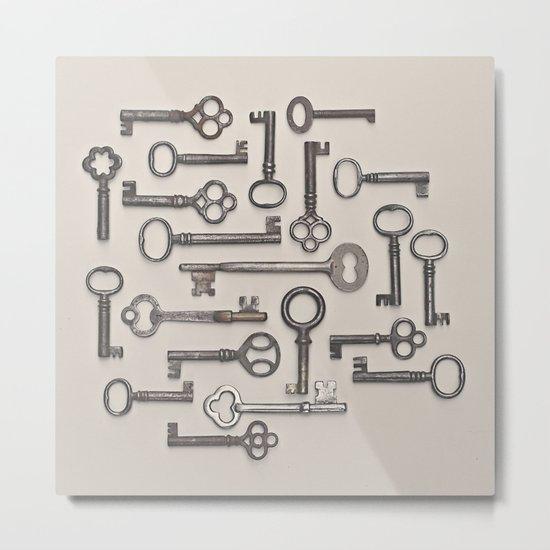 Labyrinth (Grey Version) Metal Print