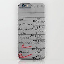Library Card 23322 Gray iPhone Case