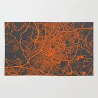austin Area & Throw Rugs featuring Austin map by Map Map Maps