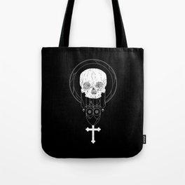Anti-Church Death Metal Skull Tote Bag