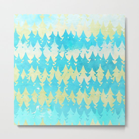 The secret forest -on a wonderful day - Abstract tree pattern Metal Print