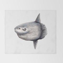 Ocean Sunfish (Mola mola) Throw Blanket