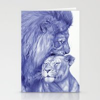 lions Stationery Cards featuring Lions by Rafael Augusto