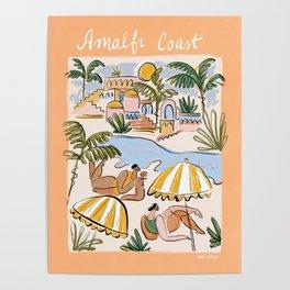 Amalfi Coast Italy (color) Poster