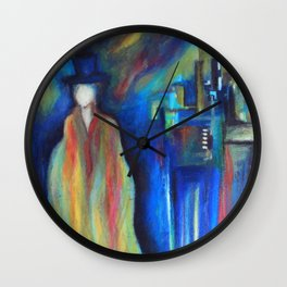 Ghost Town Wall Clock