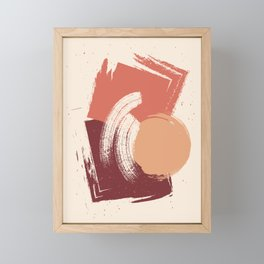 Peach Pumpkin Beige Abstract Illustration in pastel colors-2, Framed Mini Art Print