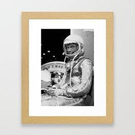 John Glenn Wearing A Space Suit Framed Art Print