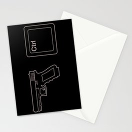 Gun Control Button Stationery Cards