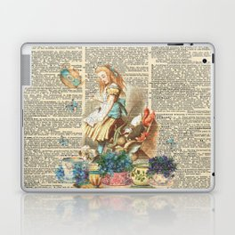 Vintage Alice In Wonderland on a Dictionary Page Laptop & iPad Skin