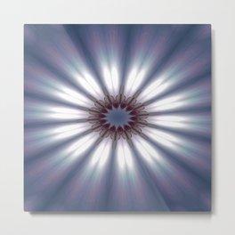 Sun Pole Starburst Mandala 2 Metal Print