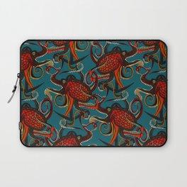 octopus ink teal Laptop Sleeve