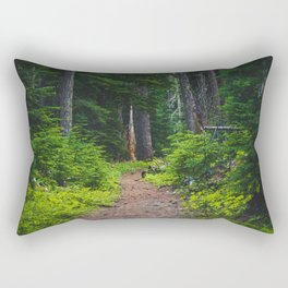Green Forest Path (Color) Rectangular Pillow