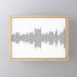 Tori Amos - Silent All These Years Lyrics Soundwave (light backgrounds) Framed Mini Art Print