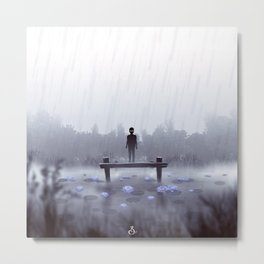 Ghost Lotus Metal Print