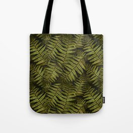 Among the ferns in the forest (military green) Tote Bag