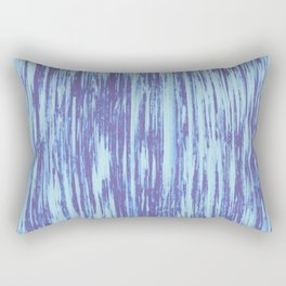 Ikat Streaks in Water Blues Rectangular Pillow
