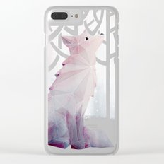 Fox in the Snow Clear iPhone Case