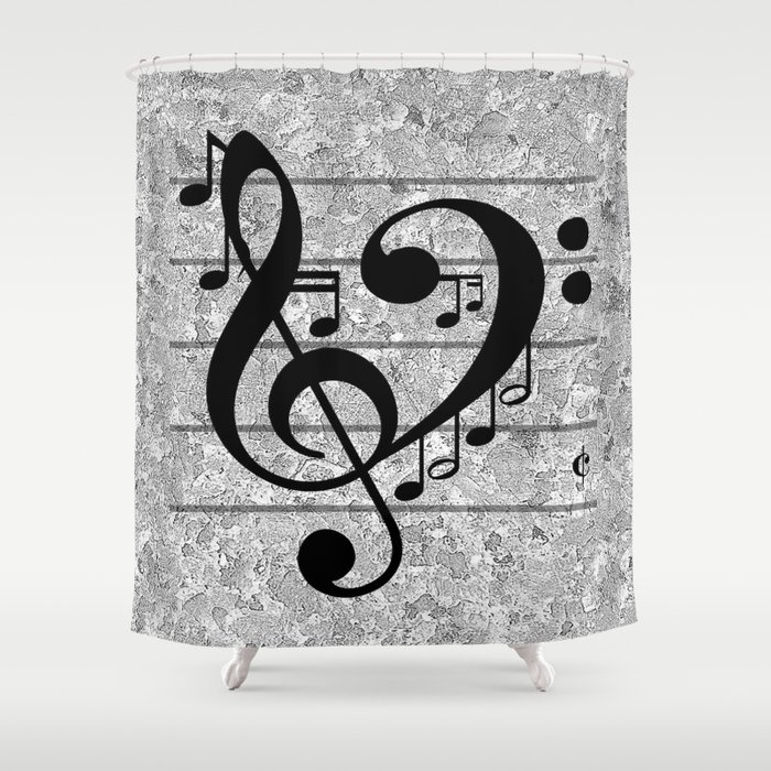 Love Music Shower Curtain by richcaspianphotography | Society6