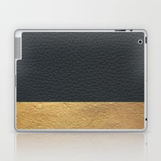 Color Blocked Gold & Leather Laptop & iPad Skin