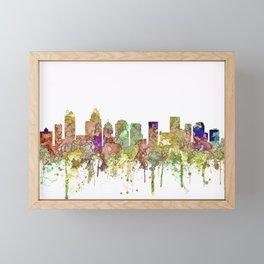 Charlotte, North Carolina Skyline SG - Faded Glory Framed Mini Art Print