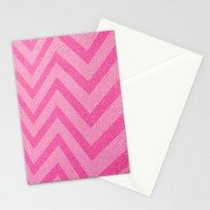 pink chevron sparkle Stationery Cards