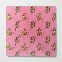tiger print pink Metal Print